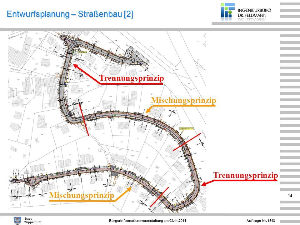 Entwurfsplanung – Straßenbau [2]